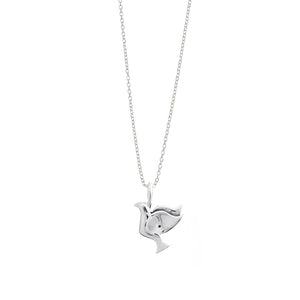 Imagine Peace Floating Dove Sterling Silver Charm