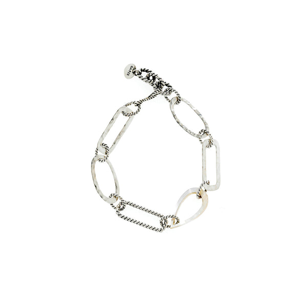 Love Letters Sterling Silver Mother Of Pearl Bracelet - Cynthia Gale New York - 1