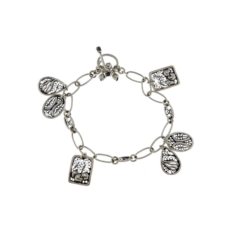 Belle Nouveau Sterling Silver Charm Bracelet - Cynthia Gale New York Jewelry
