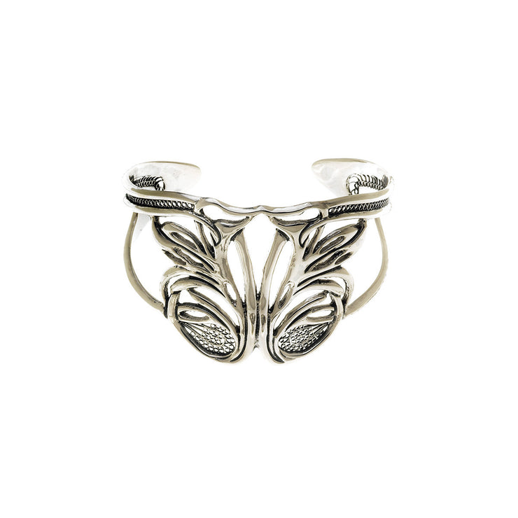 Belle Nouveau Statement Sterling Silver Cuff - Cynthia Gale New York Jewelry