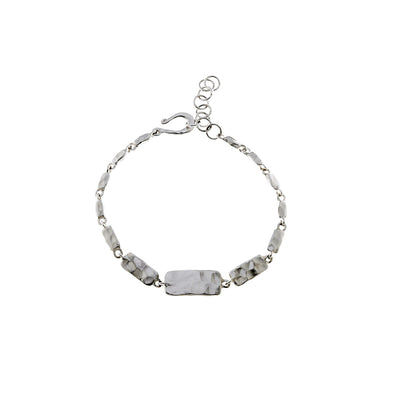 Mystical Pagoda Solid Cube Sterling Silver Bracelet - Cynthia Gale New York Jewelry