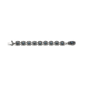 Dharmachakra Noble Truth Sterling Silver & Blue Topaz Bracelet - Cynthia Gale New York - 3