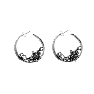 William Morris Hyacinth Sterling Silver Hoop Earring - Cynthia Gale New York Jewelry