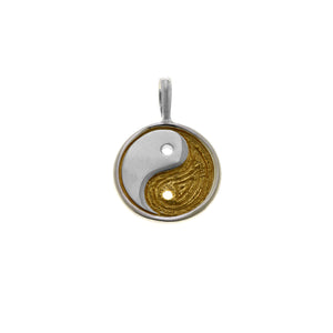 Ying Yang Balance Sterling Silver Gold Charm - Cynthia Gale New York Jewelry