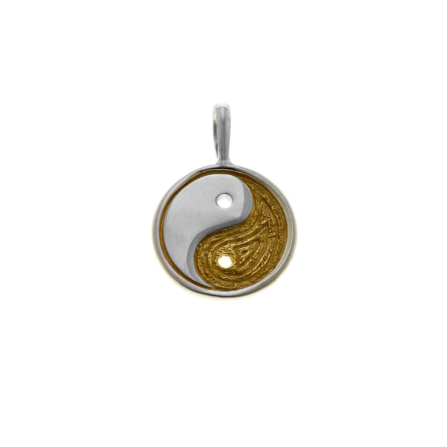 Ying Yang Balance Sterling Silver Gold Charm