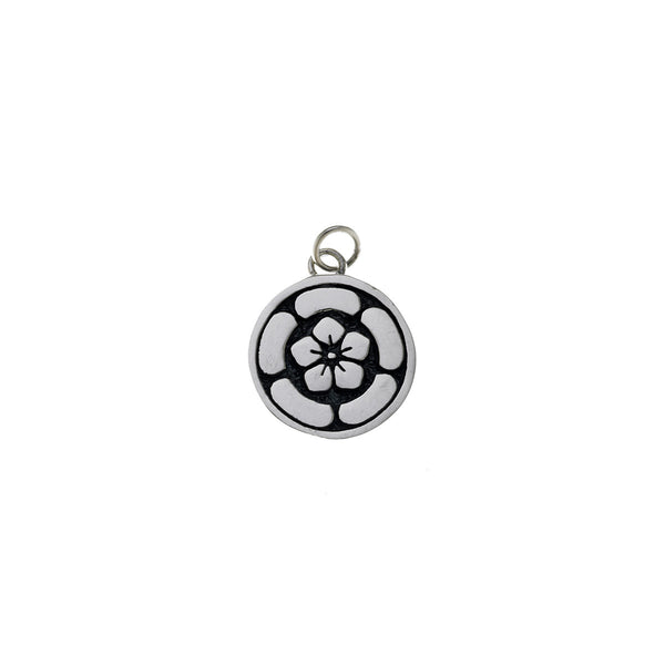 Ceremonial Kamon Sterling Silver February Peach Blossom Charm - Cynthia Gale New York Jewelry