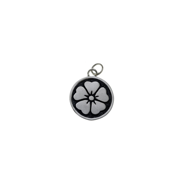 Ceremonial Kamon Sterling Silver April Cherry Blossom Charm - Cynthia Gale New York Jewelry