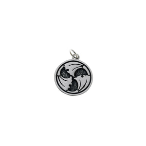 Ceremonial Kamon Sterling Silver June Ginko Charm - Cynthia Gale New York Jewelry