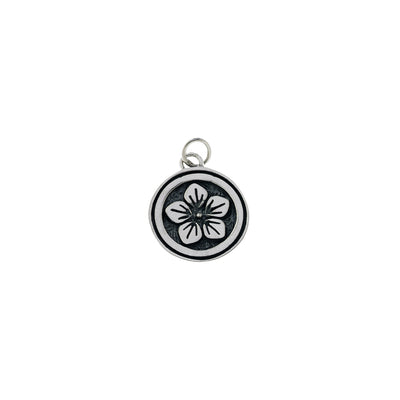 Ceremonial Kamon Sterling Silver September Mallow Blossom Charm - Cynthia Gale New York Jewelry