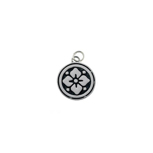 Ceremonial Kamon Sterling Silver November Gardenia Charm - Cynthia Gale New York Jewelry