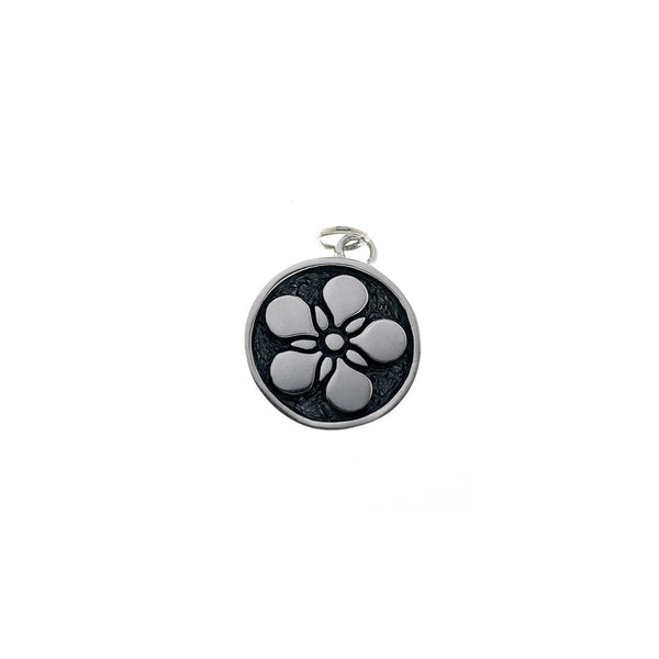 Ceremonial Kamon Sterling Silver December Poppy Charm - Cynthia Gale New York Jewelry