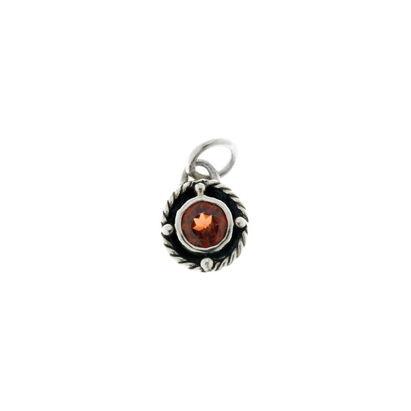Kamon Sterling Silver And Garnet January Charm - Cynthia Gale New York - 1