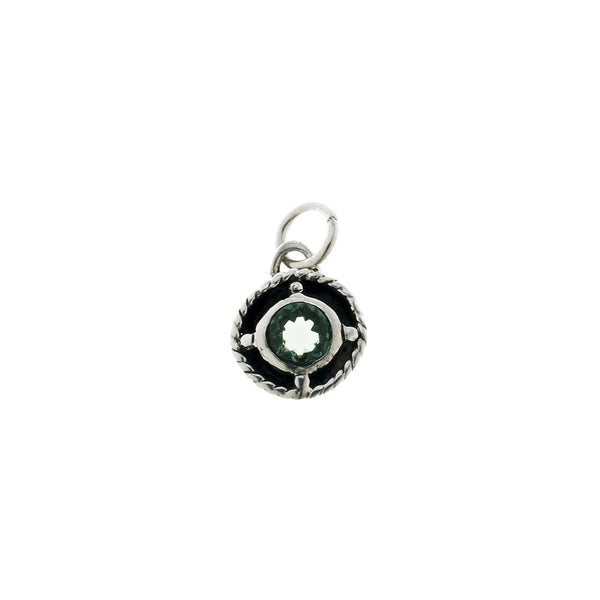 Kamon Sterling Silver And Green Quartz May Charm - Cynthia Gale New York Jewelry