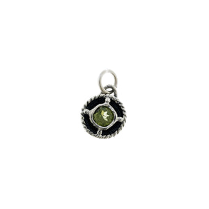 Kamon Sterling Silver And Peridot August Charm - Cynthia Gale New York Jewelry