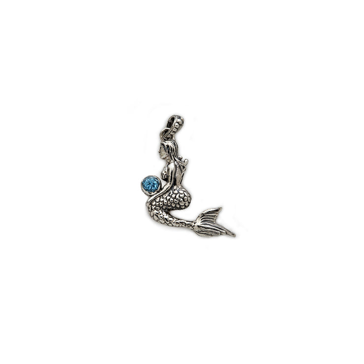 Splash Mermaid Sterling Silver Charm - Cynthia Gale New York Jewelry