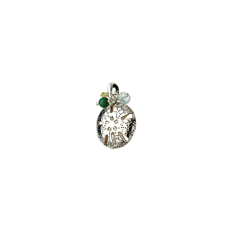 Beaches Sand Dollar Sterling Silver Gemstone Charm - Cynthia Gale New York Jewelry