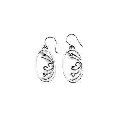 Love Letters Sterling Silver Oval Drop Earring - Cynthia Gale New York Jewelry