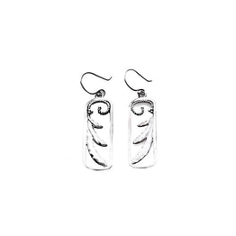 Love Letters Sterling Silver Rectangle Drop Earring - Cynthia Gale New York Jewelry
