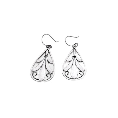 Love Letters Sterling Silver Teardrop Earring - Cynthia Gale New York Jewelry