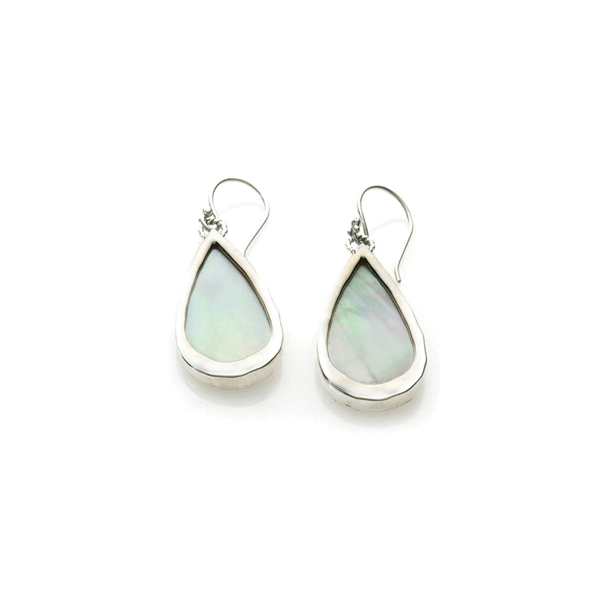 Love Letters Sterling Silver Mother Of Pearl Teardrop Earring - Cynthia Gale New York Jewelry