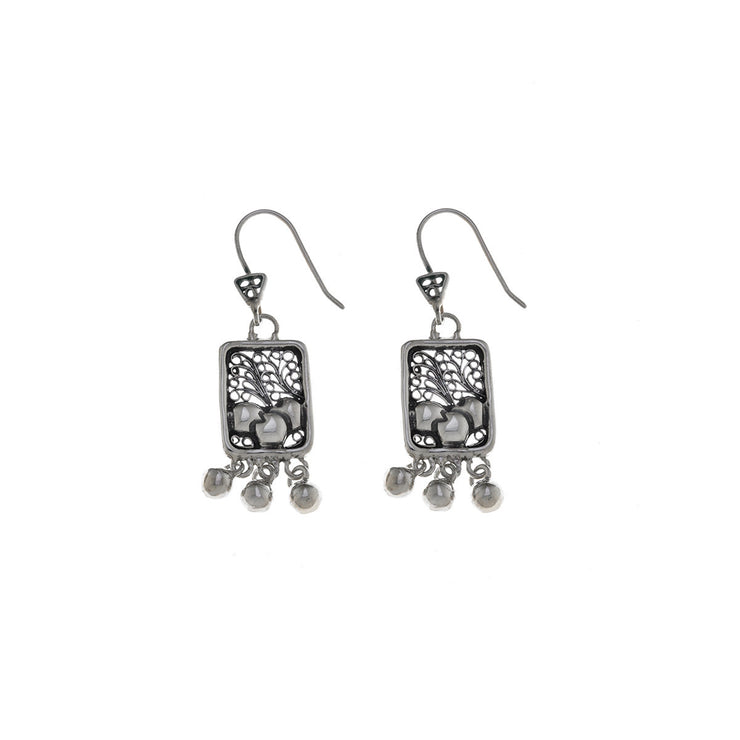 Belle Nouveau Small Rectangle Sterling Silver Drop Earring - Cynthia Gale New York Jewelry