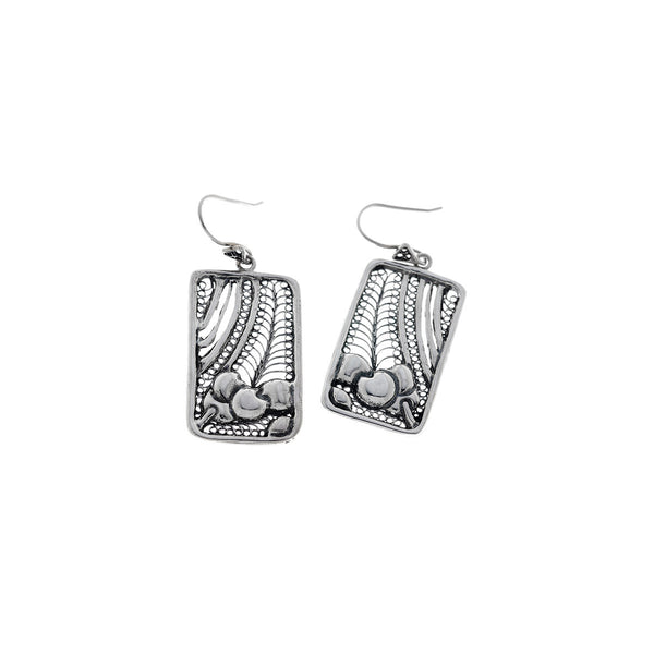 Belle Nouveau Sterling Silver Rectangle Drop Earring - Cynthia Gale New York Jewelry
