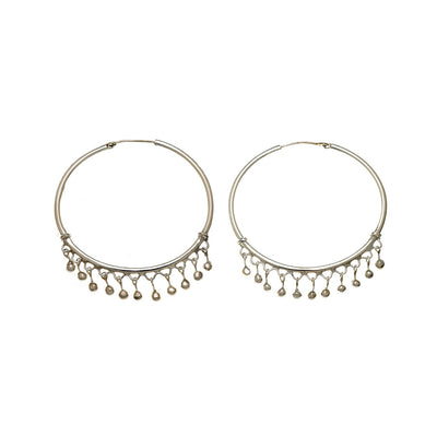 Chand Bali Large Sterling Silver Hoop Earring - Cynthia Gale New York Jewelry