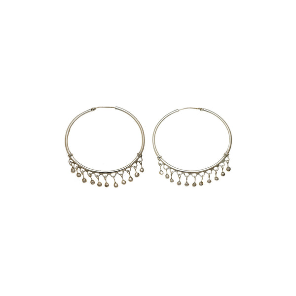 Chand Bali Small Fringe Sterling Silver Hoop Earring - Cynthia Gale New York Jewelry