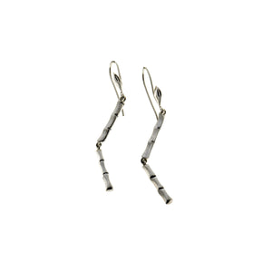 Fossil Bambu Sterling Silver Stiletto Earring - Cynthia Gale New York Jewelry