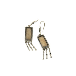 Fossil Bambu Sterling Silver Fringe Drop Earring - Cynthia Gale New York Jewelry