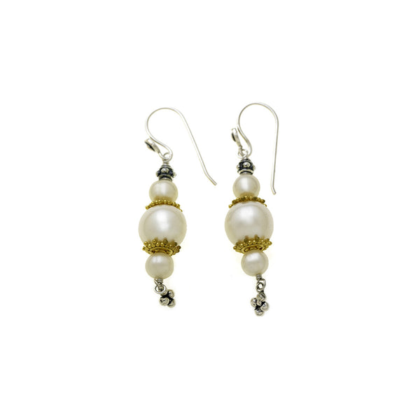 Artknots Gold Sterling Silver Pearl Drop Earring - Cynthia Gale New York Jewelry