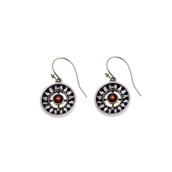 Kamon Sterling Silver And Birthstone Drop Earring - Cynthia Gale New York Jewelry