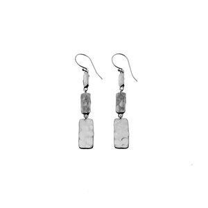 Mystical Pagoda Solid Cube  Sterling Silver Earring - Cynthia Gale New York Jewelry