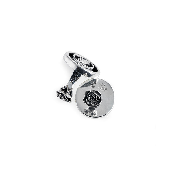 Steal Your Face Sterling Silver Cufflinks - Cynthia Gale New York
