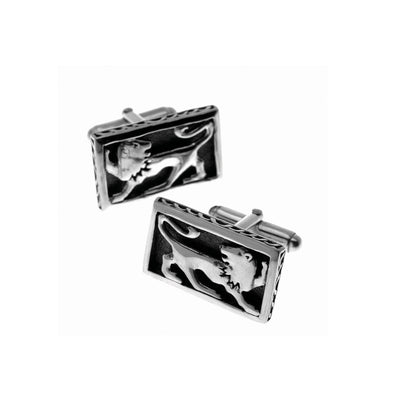 Jewish Museum Israel Lion Sterling Silver Cufflinks - Cynthia Gale New York Jewelry