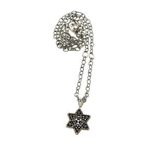 Torah Finial Star Sterling Silver Necklace - Cynthia Gale New York Jewelry
