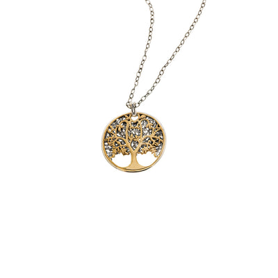 Tree Of Life Sterling Silver Bronze Medallion Necklace - Cynthia Gale New York Jewelry