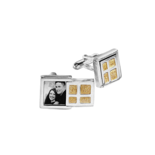 Keepsake Collection Sterling Silver Gold Cufflinks - Cynthia Gale New York Jewelry