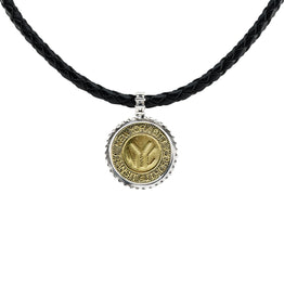 NYC Authentic Token Urban Sterling Silver & Leather Necklace - Cynthia Gale New York - 1