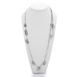 Forget Me Knot Flutter Sterling Silver Necklace - Cynthia Gale New York Jewelry