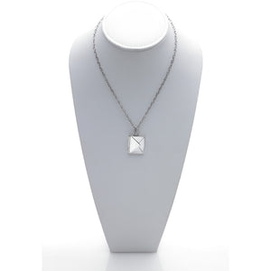 Love Letters Sterling Silver Envelope Necklace - Cynthia Gale New York Jewelry