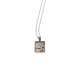 Fossil Bambu Sterling Silver Miniature Repousse Necklace - Cynthia Gale New York Jewelry