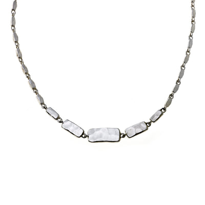 Mystical Pagoda Solid Cube Sterling Silver Necklace - Cynthia Gale New York Jewelry