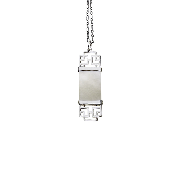 Mystical Pagoda Double Latticework Sterling Silver Necklace - Cynthia Gale New York Jewelry