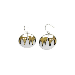 New York City Sterling Silver Brass Drop Earring - Cynthia Gale New York Jewelry
