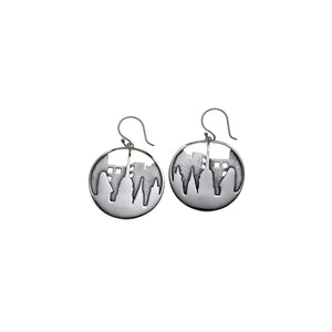 New York City Skyline Sterling Silver Drop Earring - Cynthia Gale New York Jewelry