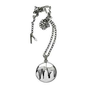 New York City Skyline Sterling Silver Pendant Necklace - Cynthia Gale New York - 2