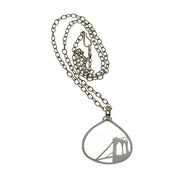 Brooklyn Bridge Sterling Silver Necklace - Cynthia Gale New York - 2