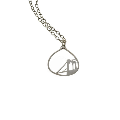Brooklyn Bridge Sterling Silver Necklace - Cynthia Gale New York - 1
