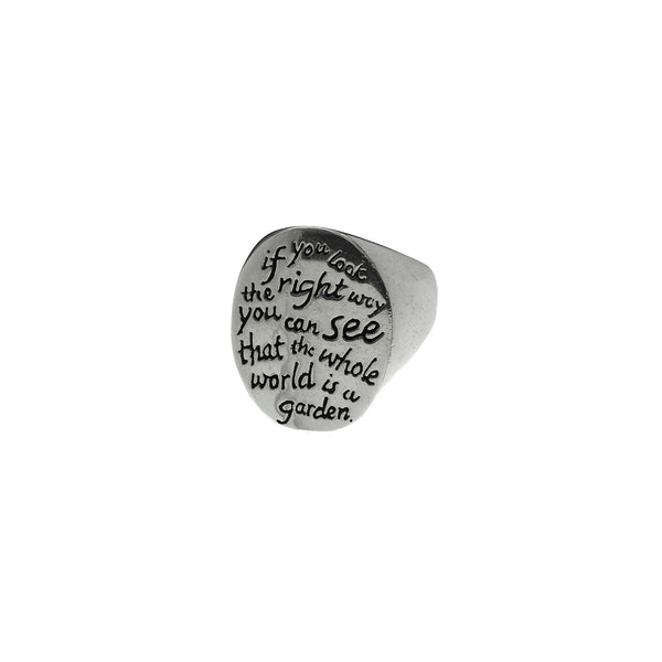 Secret Garden Sterling Silver Quote Ring - Cynthia Gale New York Jewelry